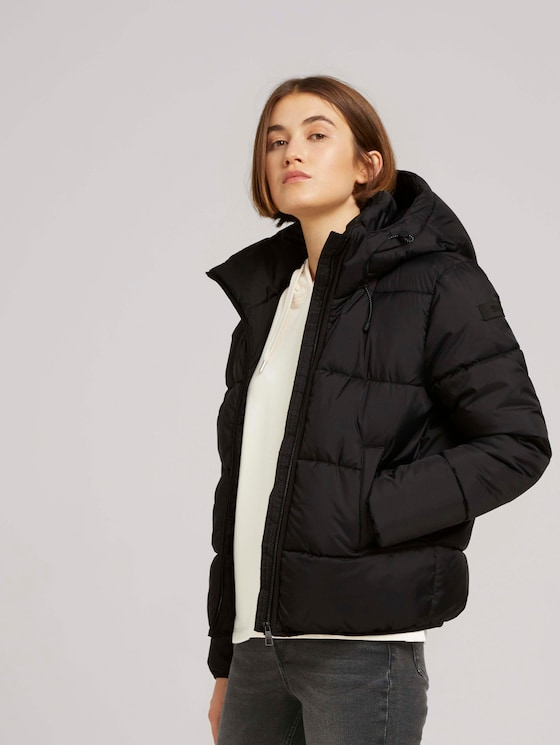 Quilted jacket with recycled polyester - Women - deep black - 5 - TOM TAILOR Denim