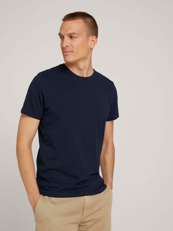 basic T-shirt in een dubbele verpakking - Mannen - Sky Captain Blue - 5 - TOM TAILOR