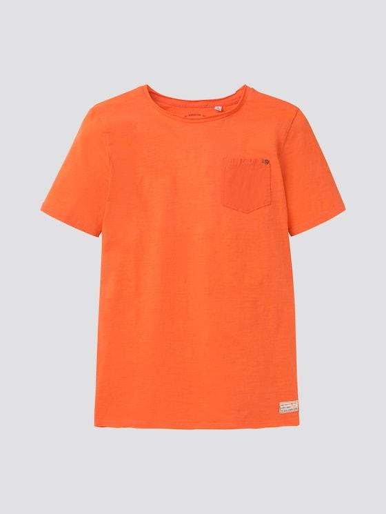 Schlichtes T-Shirt - Jungen - bright red - 7 - TOM TAILOR