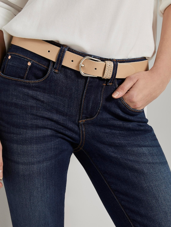Leather belt with studded detail - Women - nude - 5 - TOM TAILOR