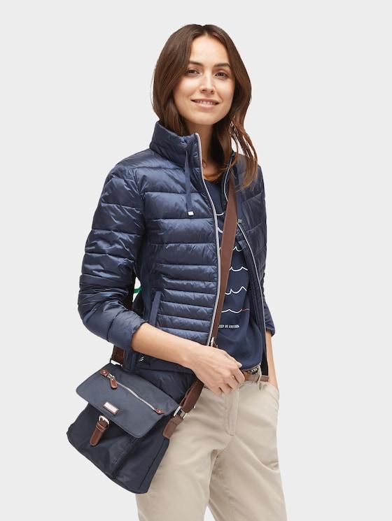 kleine Überschlagtasche - Frauen - dark blue cognac - 5 - TOM TAILOR