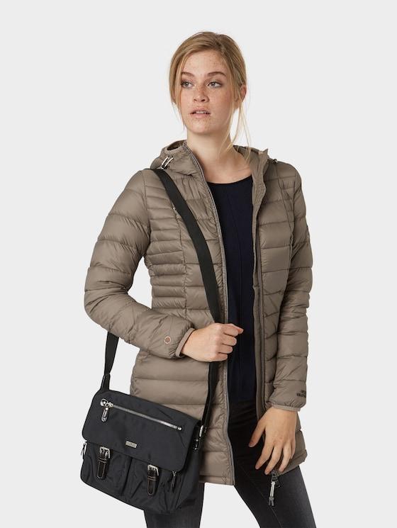 Schulter-Tasche aus Nylon - Frauen - schwarz / black - 5 - TOM TAILOR