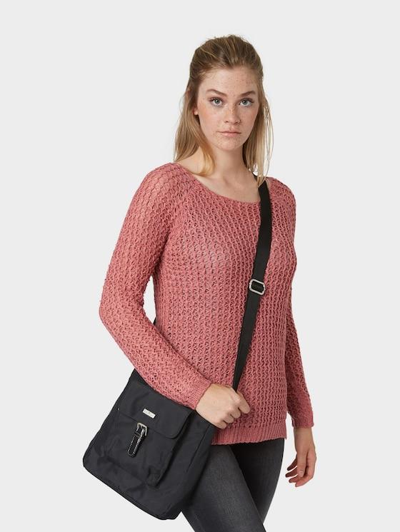 Umhänge-Tasche aus Nylon - Frauen - schwarz / black - 5 - TOM TAILOR