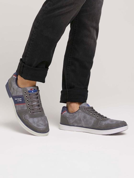Sneaker mit Jeans-Detail - Männer - grey - 5 - TOM TAILOR