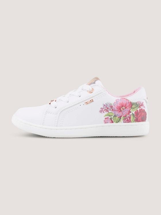 Sneaker mit Blumen - unisex - white - 7 - TOM TAILOR