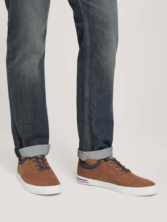 Baumwoll Sneaker - Männer - cognac - 5 - TOM TAILOR