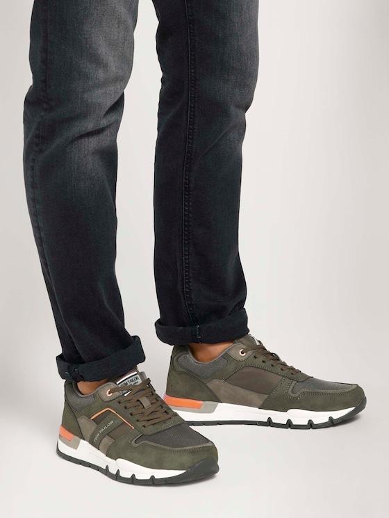 Sneaker mit Farbakzenten - Männer - khaki - 5 - TOM TAILOR