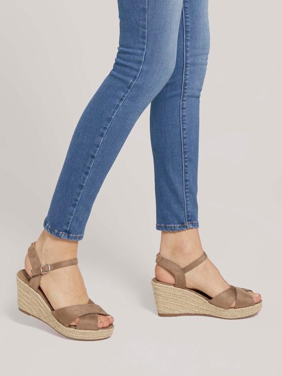 Sandaletten mit Keilabsatz - Frauen - beige - 5 - TOM TAILOR