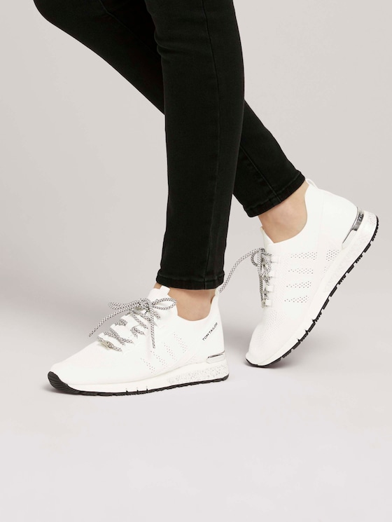 sportlicher Sneaker - Frauen - white - 5 - TOM TAILOR
