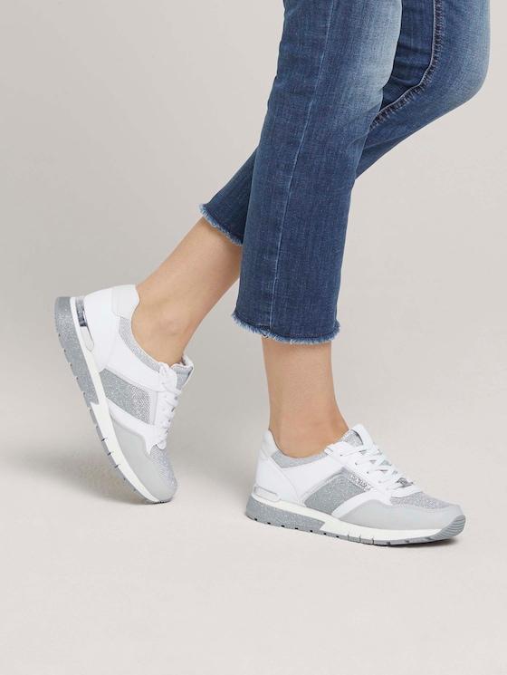 Sneaker mit Silber-Details - Frauen - white-silver - 5 - TOM TAILOR
