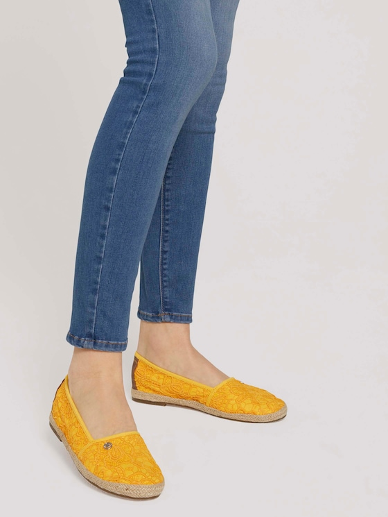 strukturierter Stoffslipper - Frauen - yellow - 5 - TOM TAILOR
