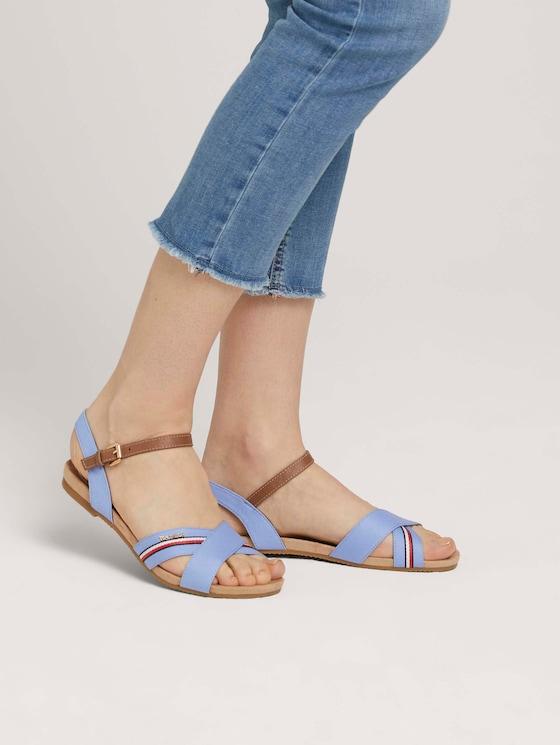 Sandale mit Streifendetail - Frauen - blue - 5 - TOM TAILOR