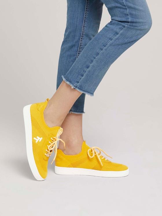 strukturierte Sneaker - Frauen - yellow - 5 - TOM TAILOR