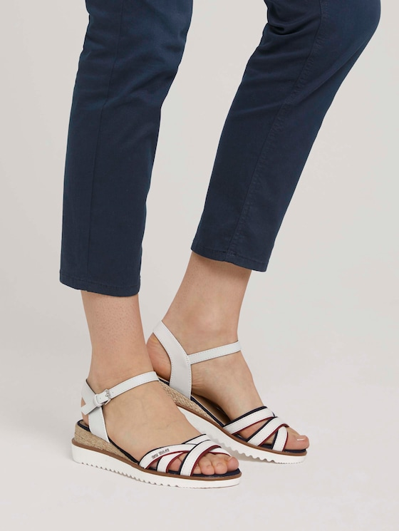Sandaletten mit Keilabsatz - Frauen - offwhite - 5 - TOM TAILOR