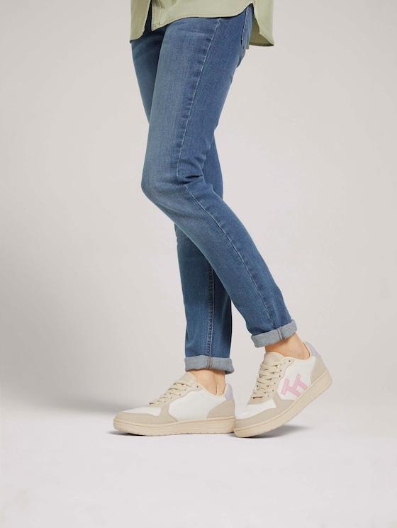 Sneaker mit Logo - Frauen - beige rose - 5 - TOM TAILOR
