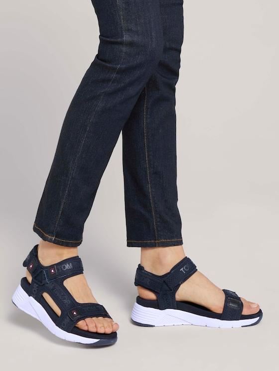 Sandale mit Klettverschluss - Frauen - navy - 5 - TOM TAILOR
