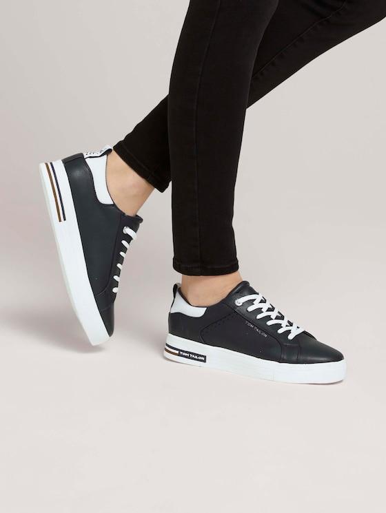 Sneaker mit Logostreifen - Frauen - navy - 5 - TOM TAILOR