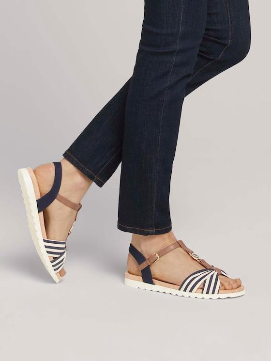 Sandale mit Streifendetail - Frauen - navy - 5 - TOM TAILOR