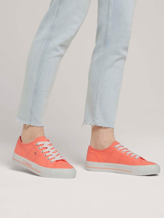 Stoffsneaker - Frauen - neon orange - 5 - TOM TAILOR Denim
