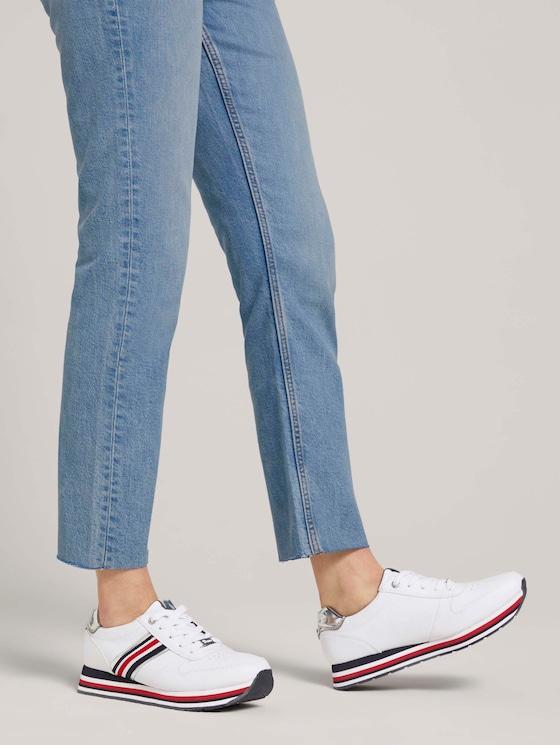 Sneaker mit Plateaubsatz - Frauen - white - 5 - TOM TAILOR Denim
