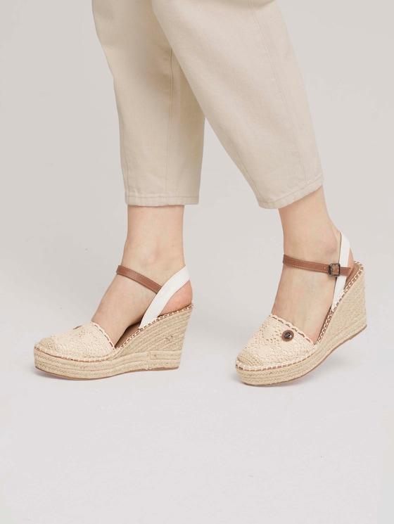 wedge-heel sandals - Women - offwhite - 5 - TOM TAILOR Denim