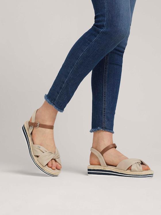 bunte Sandalette - Frauen - beige - 5 - TOM TAILOR Denim