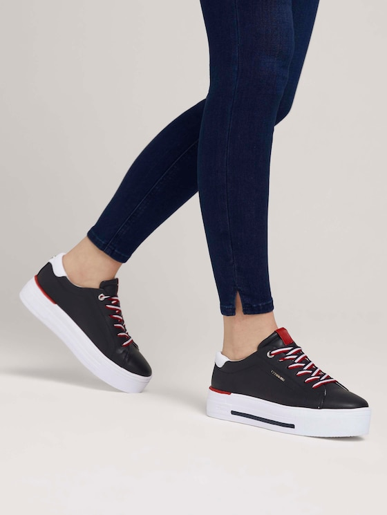 Sneaker mit Plateausohle - Frauen - navy - 5 - TOM TAILOR Denim