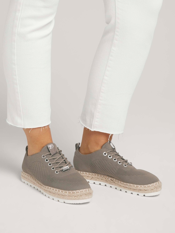 Sneaker mit geflochtener Bastsohle - Frauen - khaki - 5 - TOM TAILOR Denim