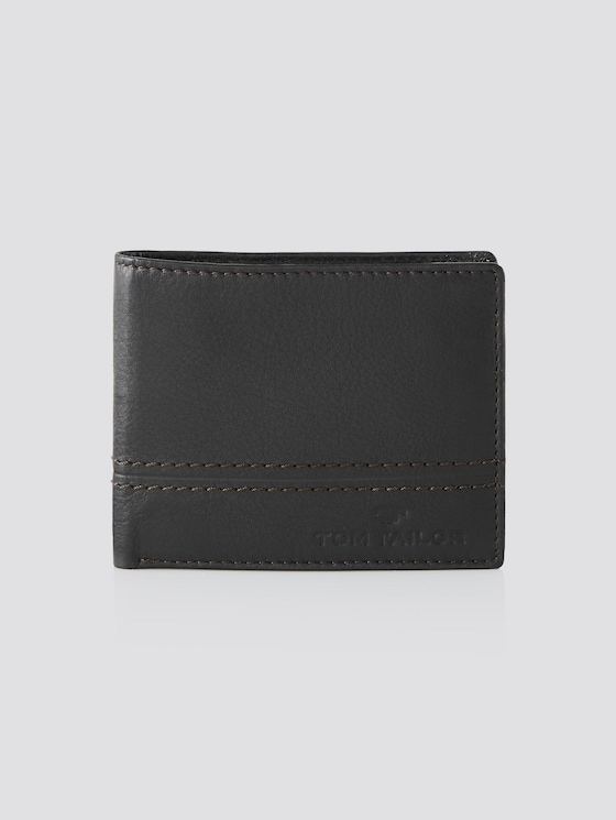 Portemonnaie aus Leder - Männer - braun / brown - 7 - TOM TAILOR