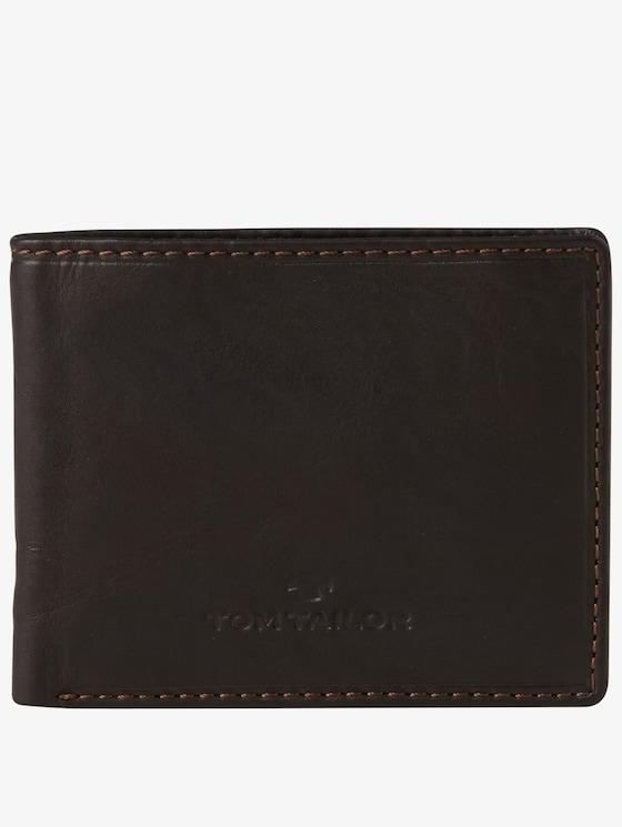 aufklappbare Geldbörse aus Leder - Männer - braun / brown - 1 - TOM TAILOR