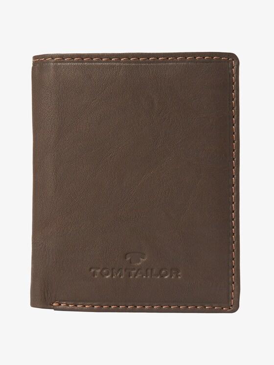 schmale Leder-Geldbörse - Männer - braun / brown - 1 - TOM TAILOR