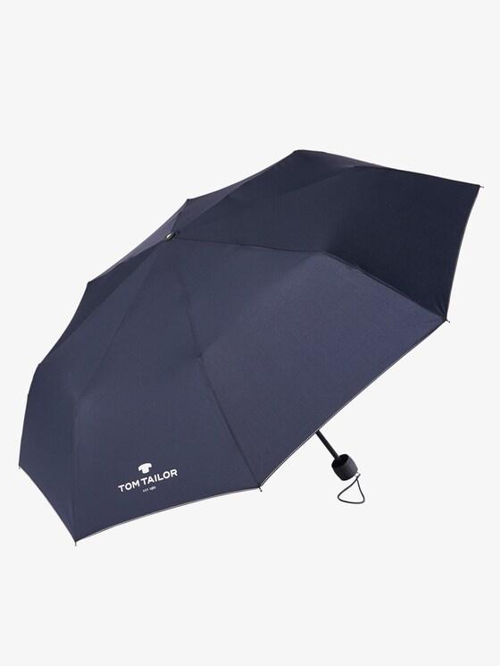 klassieke paraplu - uniseks - dark blue - 1 - TOM TAILOR