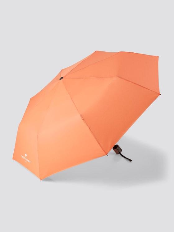 basic umbrella - unisex - melon orange - 7 - TOM TAILOR