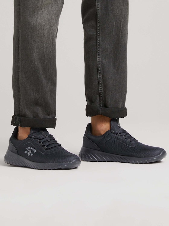Sneakers with mesh pattern - Men - black - 5 - TOM TAILOR