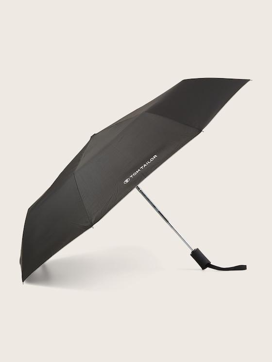 Kleiner Automatik Regenschirm - unisex - black - 7 - TOM TAILOR