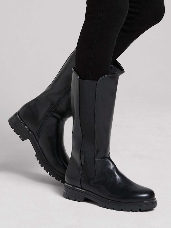 Boot with an elastic band - Women - black - 5 - TOM TAILOR