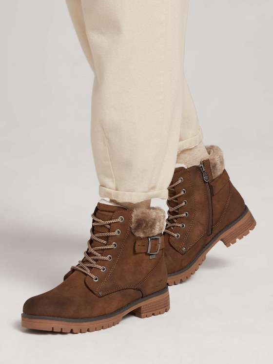 Boot with laces - Women - whisky - 5 - TOM TAILOR