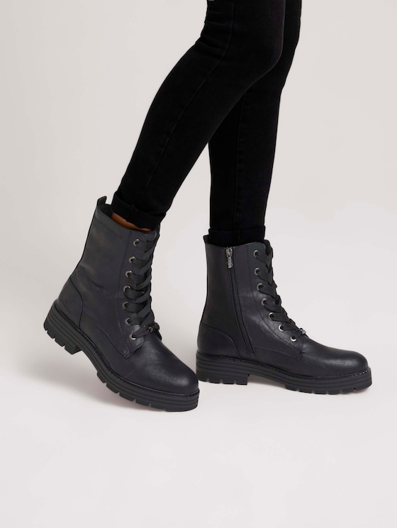 Boot with laces - Women - black - 5 - TOM TAILOR