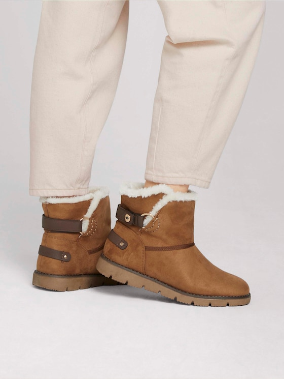Lined ankle boot - Women - camel - 5 - TOM TAILOR