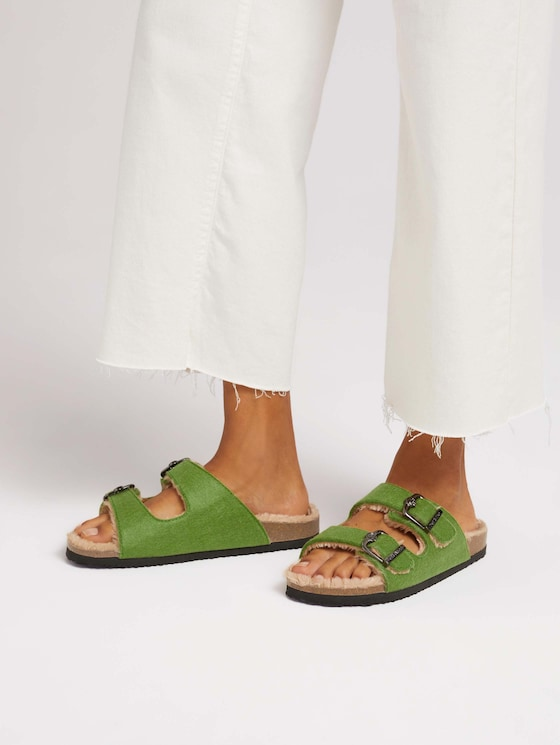 Lined mules - Women - green - 5 - TOM TAILOR