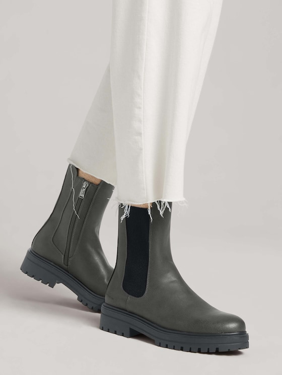 Boot with elastic on the side - Women - coal - 5 - TOM TAILOR