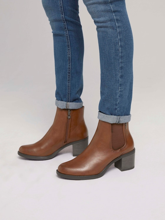 Ankle boot with elastic - Women - cognac - 5 - TOM TAILOR Denim