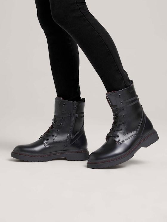 Stiefel mit Schnürung - Frauen - black - 5 - TOM TAILOR Denim