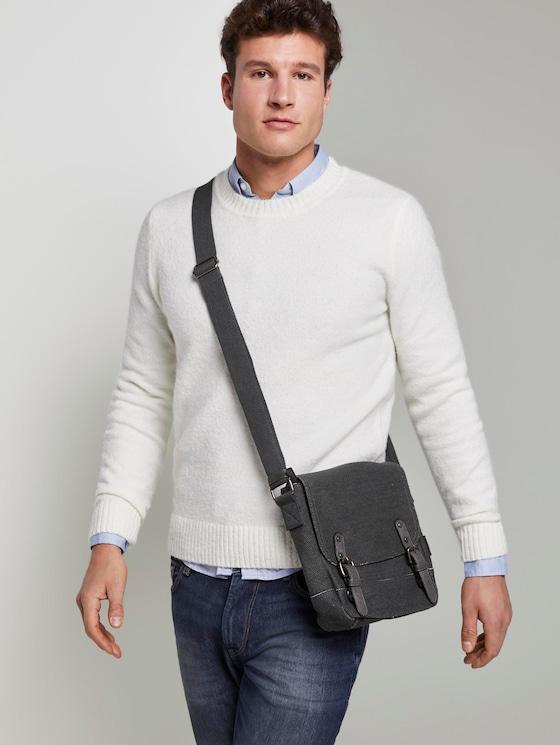 Überschlagtasche Max - Männer - dark grey - 5 - TOM TAILOR