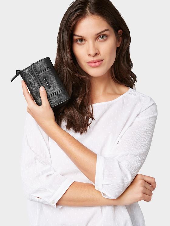 Juna flap-over purse - Women - schwarz / black - 5 - TOM TAILOR