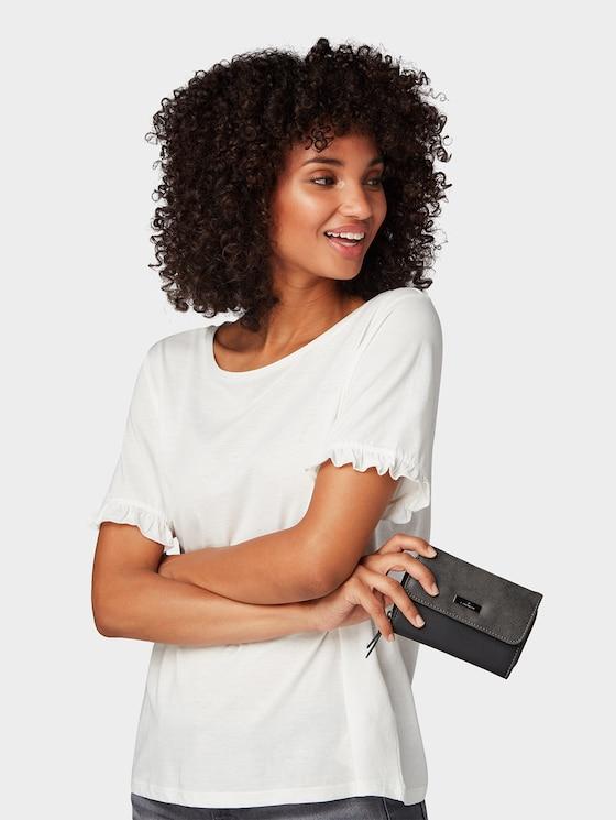 Elin flap-over purse - Women - schwarz / black - 5 - TOM TAILOR