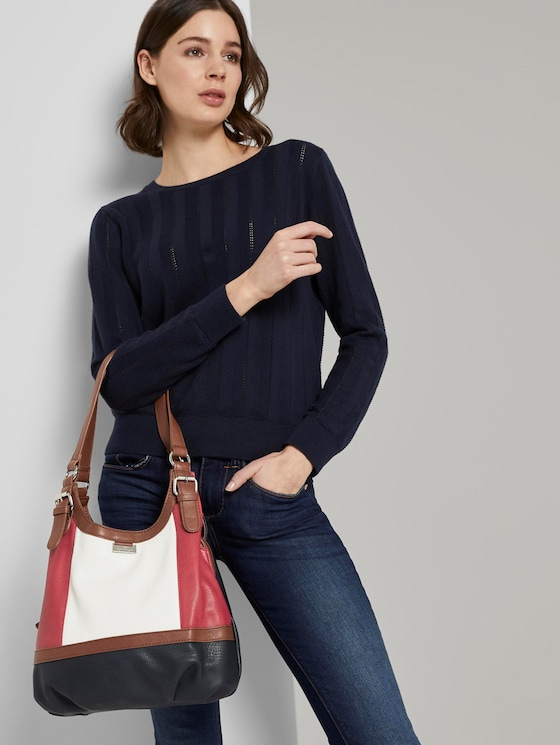 Shopper Juna Flash - Frauen - mixed maritim - 5 - TOM TAILOR