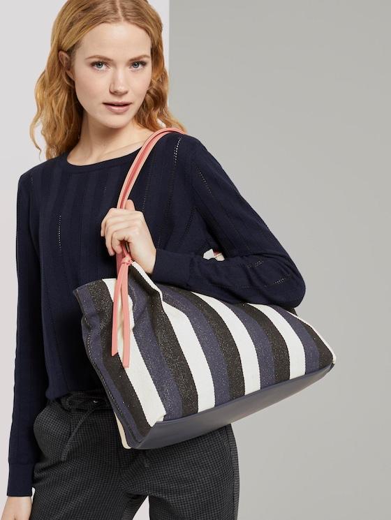 Shopper ADRIA - Frauen - stripes blue - 5 - TOM TAILOR
