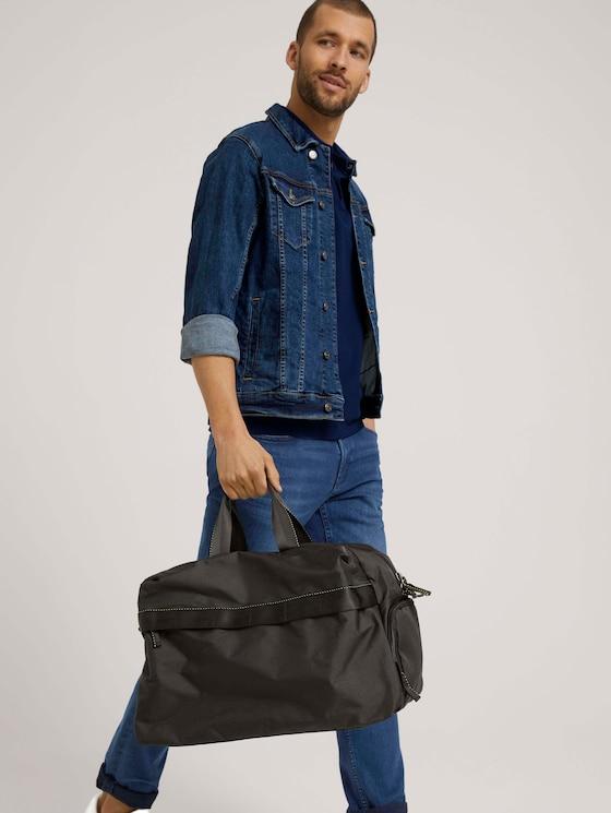 Jon Weekender Reisetasche aus recycletem Polyester - Männer - schwarz / black - 5 - TOM TAILOR