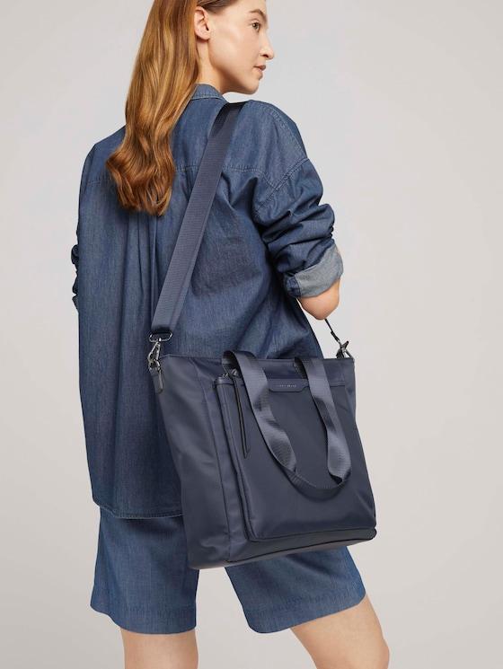Viona Shopper mit Lederelementen - Frauen - dark blue - 5 - TOM TAILOR